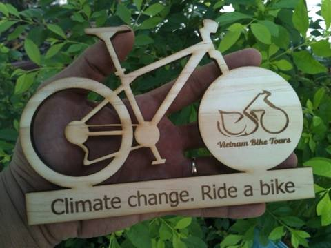Vietnam Bike Tours' wooden bicycle souvenir