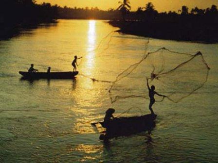 Sunset on the river/BIKING 11 days/10nights - SAIGON to HA NOI